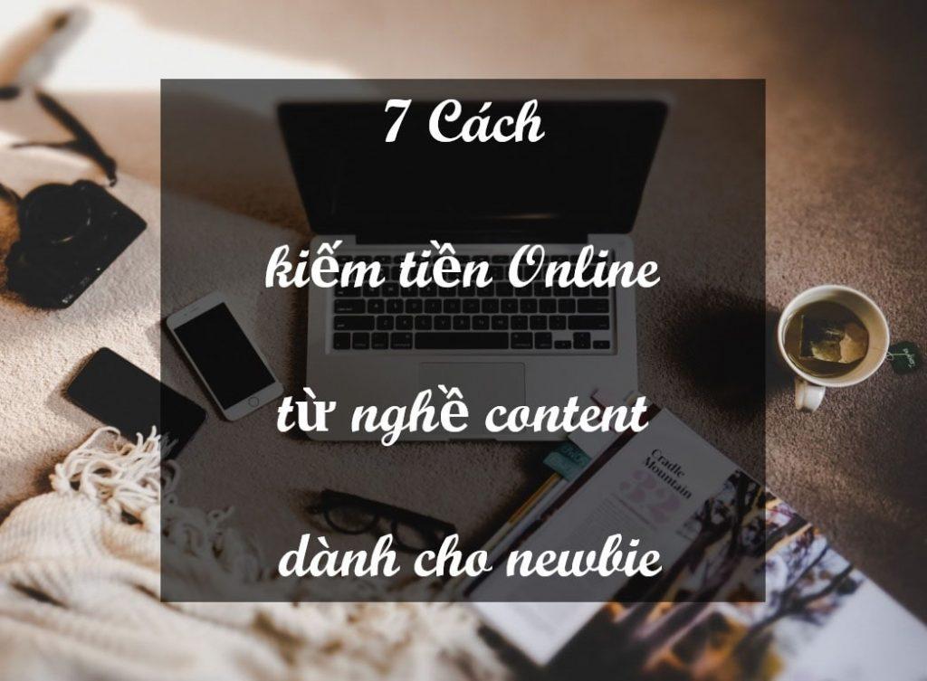 Kiếm tiền online từ nghề content