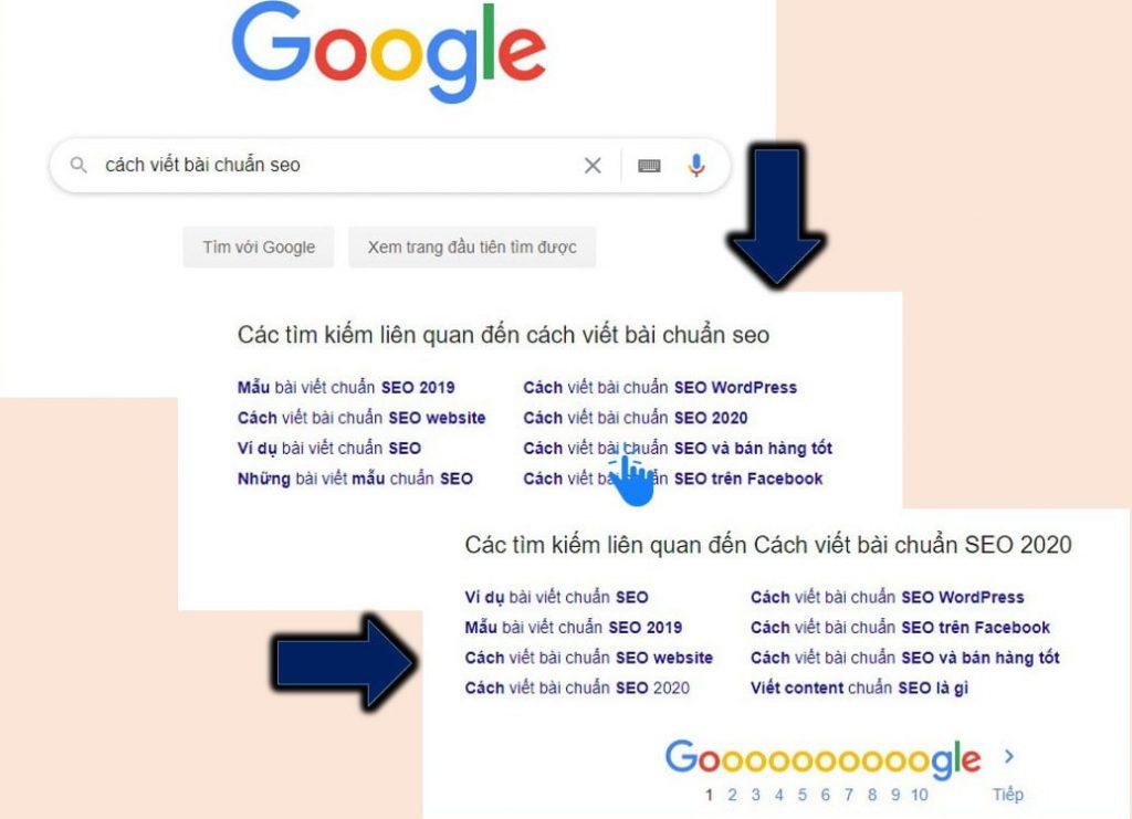 Sử dụng Google Search Box nghiên cứu từ khóa